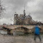Notre-Dame sous la pluie Quai de la Tournelle