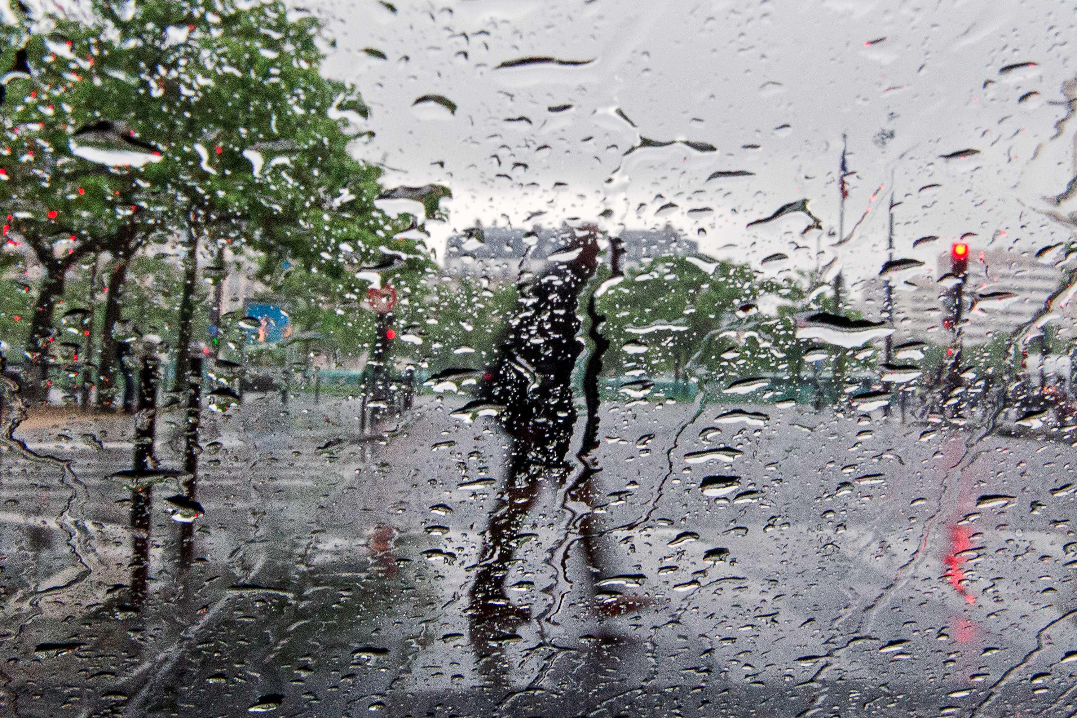 split by the rain